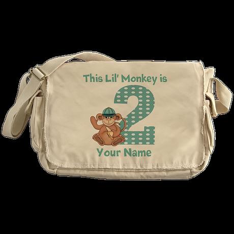 2nd Birthday Monkey Messenger Bag