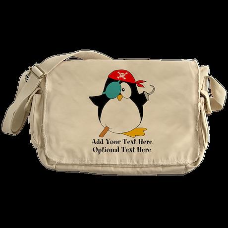 Pirate Penguin Messenger Bag