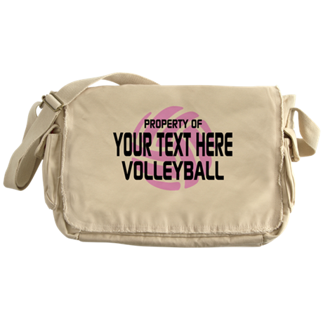 Property of Your Team Volleyball Messenger Bag