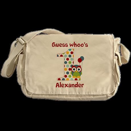 Custom guess whos 1 boy Messenger Bag