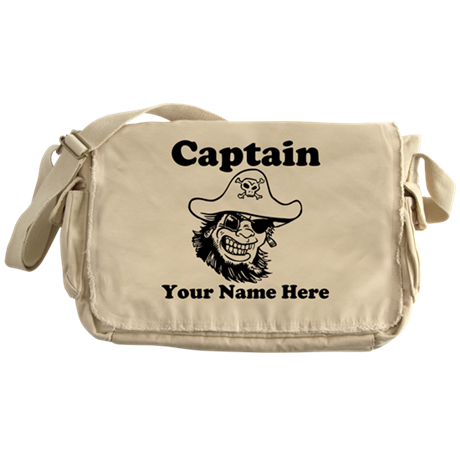 Custom Captain Pirate Messenger Bag
