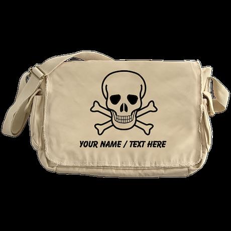 Custom Skull And Crossbones Messenger Bag