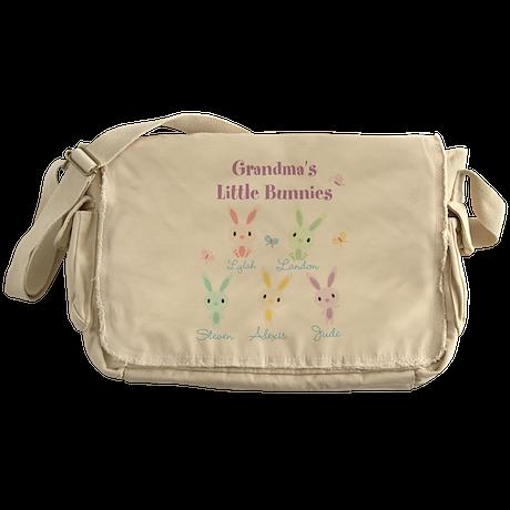 Grandmas little bunnies custom Messenger Bag