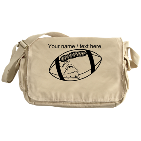 Custom Cartoon Football Messenger Bag