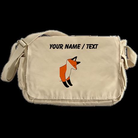 Custom Red Fox Messenger Bag