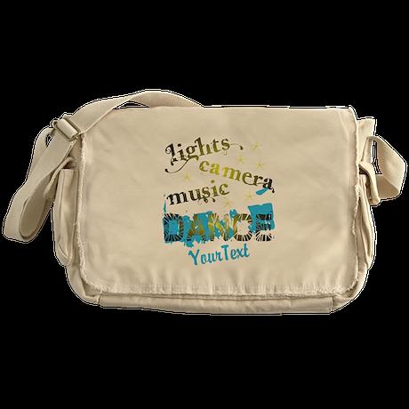 Lights Dance Optional Text Messenger Bag