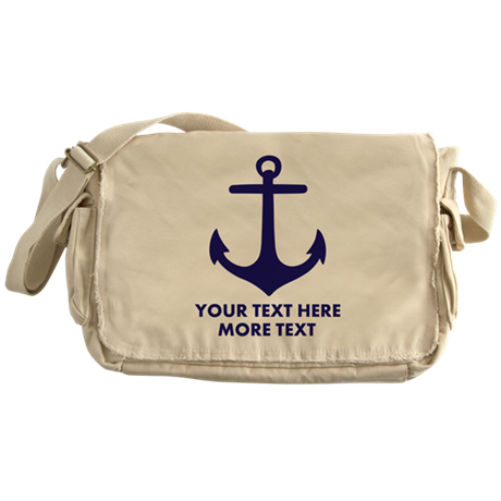 nautical boat anchor messenger bag by hqart