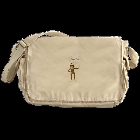 Sock Monkey Comic Messenger Bag
