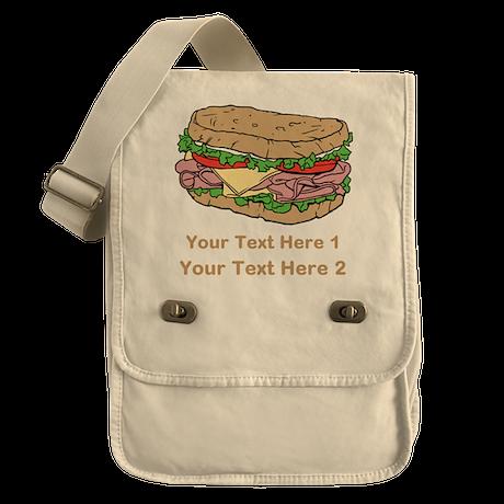 Sandwich. Custom Text. Field Bag