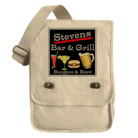 Personalized Bar and Grill Field Bag