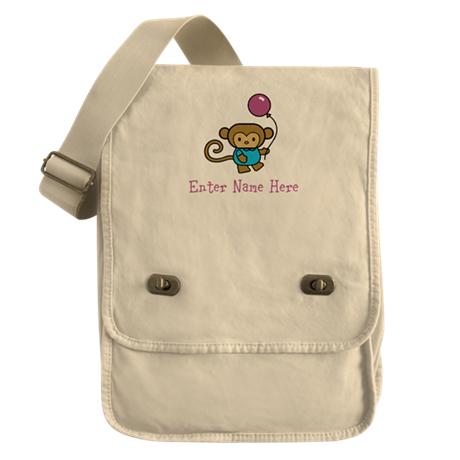 Personalized Monkey Field Bag