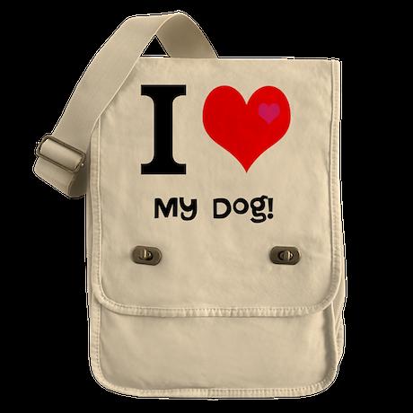 Personalised I Love... Field Bag