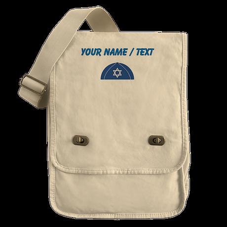 Custom Blue Yarmulke Field Bag