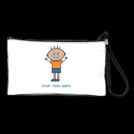Stick Figure Boy Clutch Bag