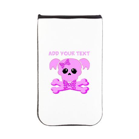 Personalized Pink Skull Kindle Sleeve