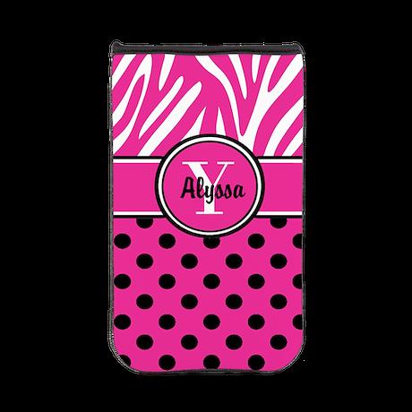 Pink Black Zebra Personalized Kindle Sleeve