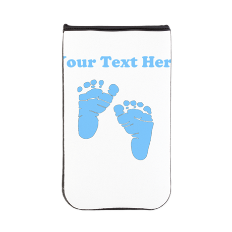 Personalized Baby Feet Blue Kindle Sleeve
