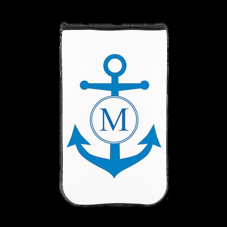 Anchor, Nautical Monogram Kindle Sleeve