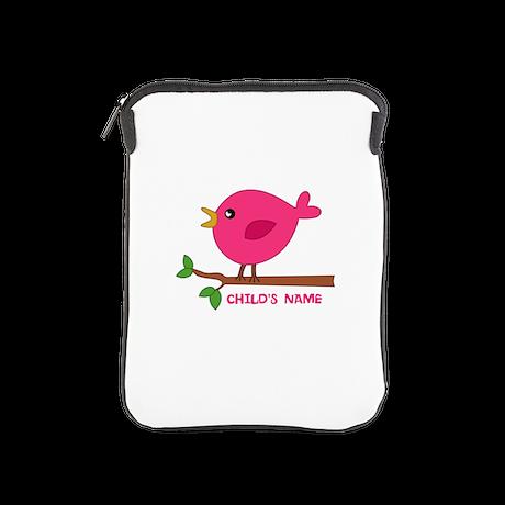 Editable Pink Bird iPad Sleeve
