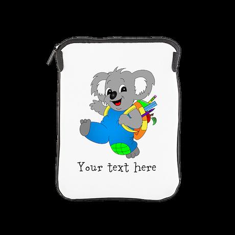 Personalize it - Koala Bear with backpack iPad Sle
