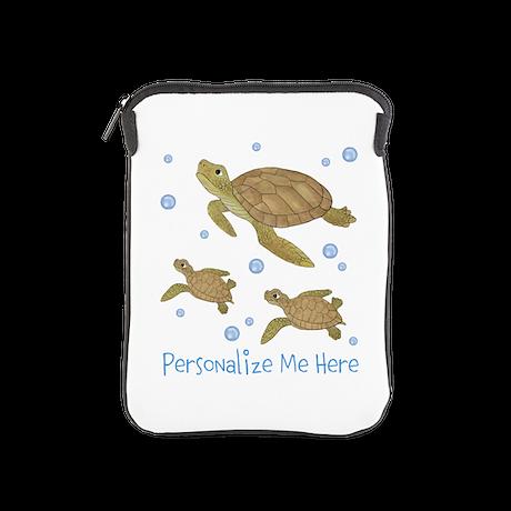 Personalized Sea Turtles iPad Sleeve
