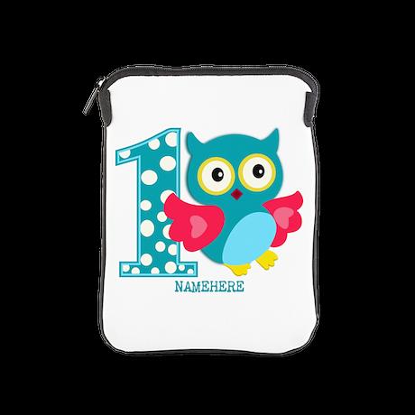 Cute First Birthday Owl iPad Sleeve