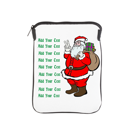 Add Your Own Text Santa iPad Sleeve