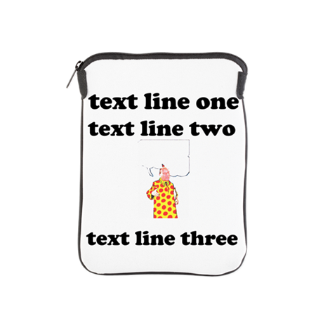 your text here iPad Sleeve