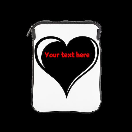 Customizable Heart iPad Sleeve