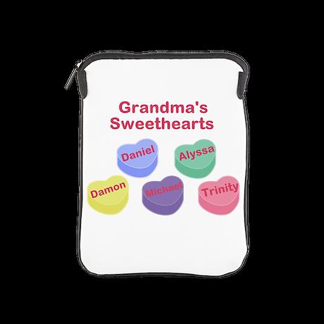 Custom Grand kids sweethearts iPad Sleeve