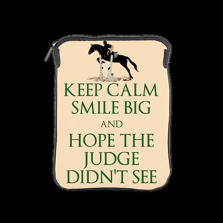 Keep Calm, Smile Big Horse iPad Sleeve