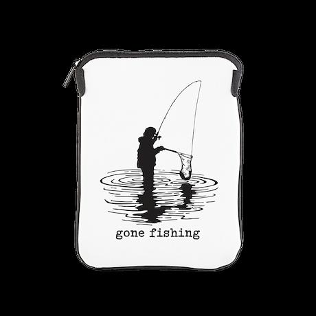 Personalized Gone Fishing iPad Sleeve