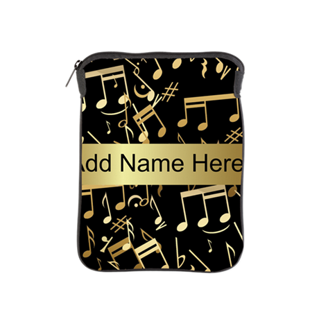 designer gold Musical notes iPad Sleeve