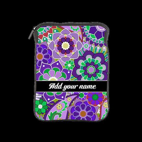 funky retro floral pattern iPad Sleeve