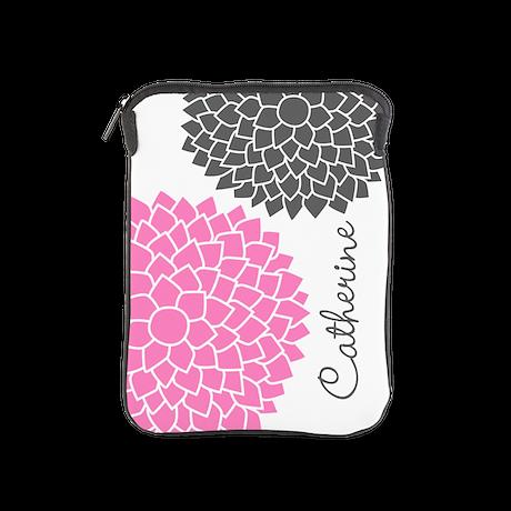 modern zen flowers pink iPad Sleeve