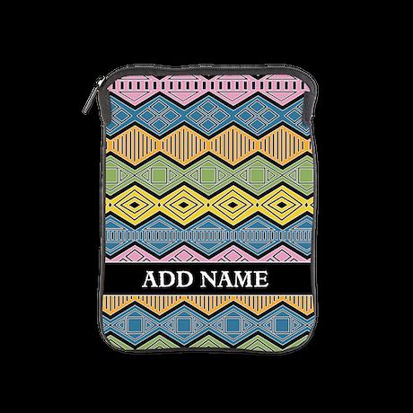 tribal print with name iPad Sleeve