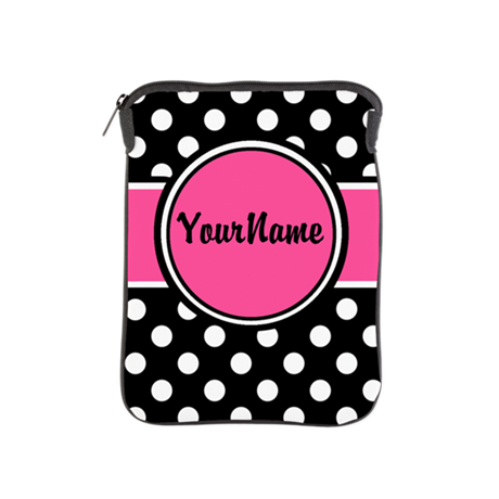 Pink Dot Personalized iPad Sleeve