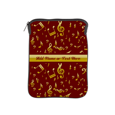 Personalized Red and gold musical notes Designer i