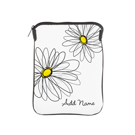 Modern Whimsical Daisies iPad Sleeve