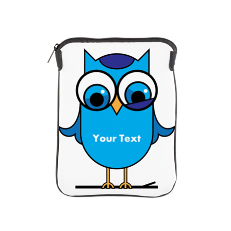 Custom Blue Owl Branch iPad Sleeve