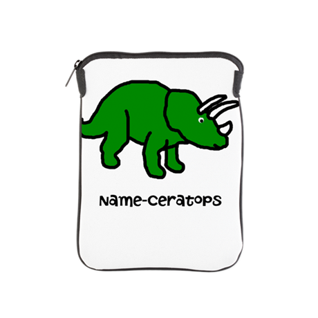 Name your own Triceratops! iPad Sleeve