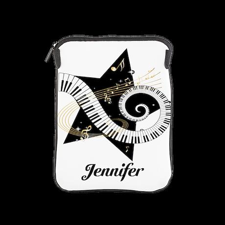 Music star gold black iPad Sleeve