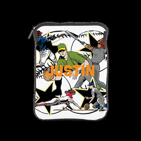 Custom Baseball Name iPad Sleeve