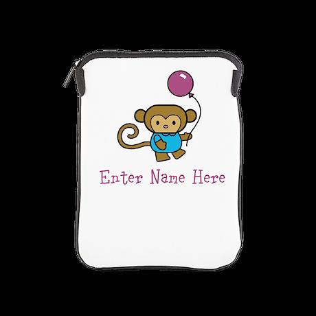Personalized Monkey iPad Sleeve