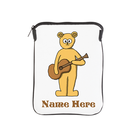 Bear Guitarist Custom Text. iPad Sleeve