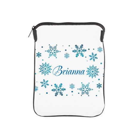 Custom name Snowflakes iPad Sleeve
