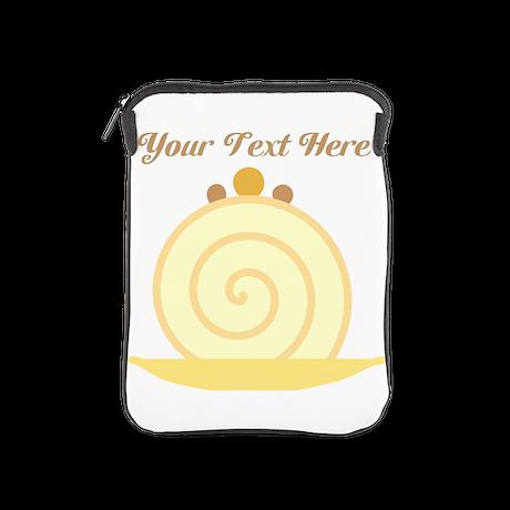 Vanilla Swirl Cake and Text. iPad Sleeve
