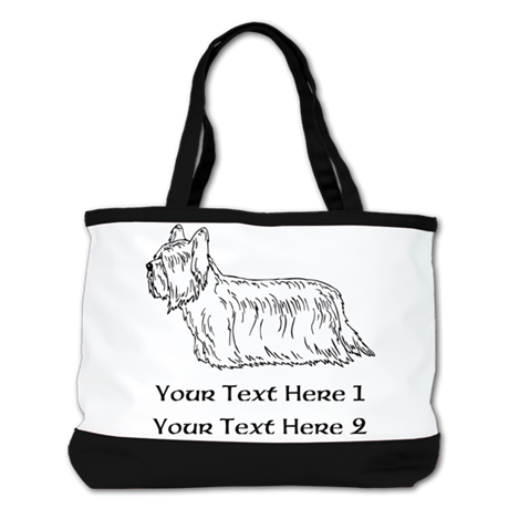 Skye Terrier. Custom Text Shoulder Bag