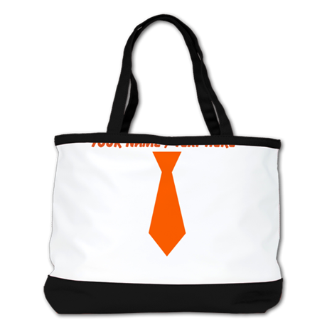 Personalized Orange Tie Shoulder Bag