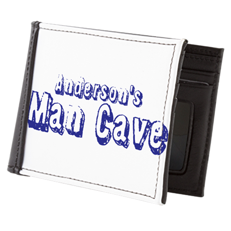 Personalized Man Cave Mens Wallet